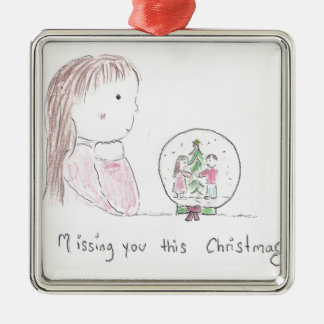 Missing You This Christmas Metal Ornament