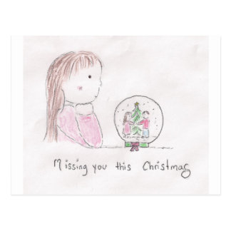 Missing You This Christmas Postcard