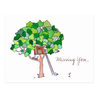 Missing You, Tree House Postcard