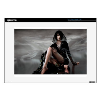 "Missing You Veiled Goth Woman Skin For 15"" Laptop"
