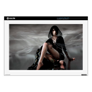 "Missing You Veiled Goth Woman Skin For 17"" Laptop"