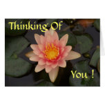 Missing You Water Lily (editable) Card