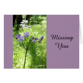 Missing You Wildflower Note Card