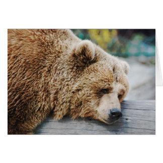 Missing You You're Gone Sad Bear Humor Card