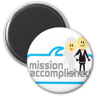 Mission Accomplished Marriage 2 Inch Round Magnet