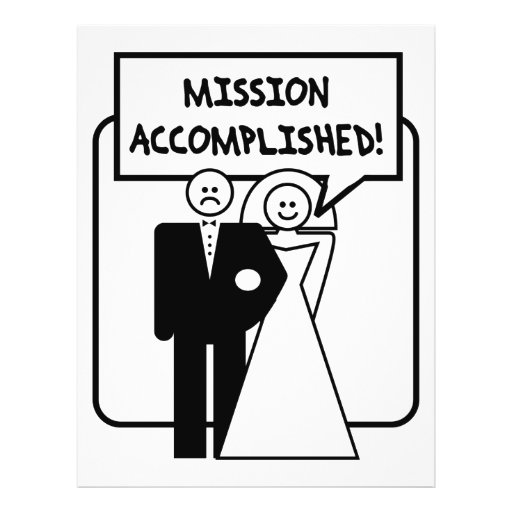 """Mission Accomplished"" Marriage 8.5"" X 11"" Flyer"