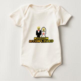 """Mission Accomplished"" Marriage (8-bit) Baby Bodysuit"