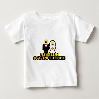 """""""Mission Accomplished"""" Marriage (8-bit) Baby T-Shirt"""