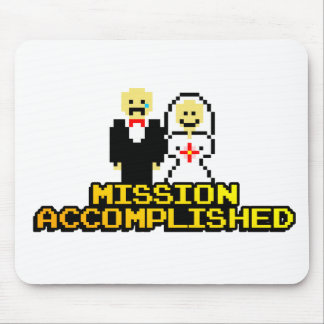 """""""Mission Accomplished"""" Marriage (8-bit) Mouse Pad"""