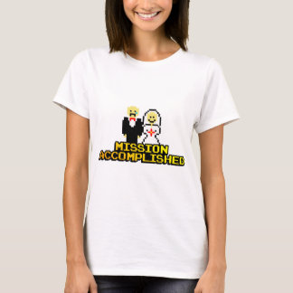 """Mission Accomplished"" Marriage (8-bit) T-Shirt"