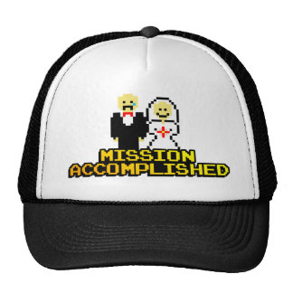 """Mission Accomplished"" Marriage (8-bit) Trucker Hat"