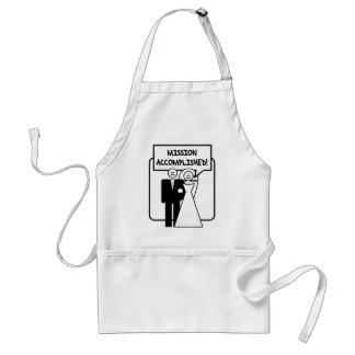 Mission Accomplished Marriage Adult Apron