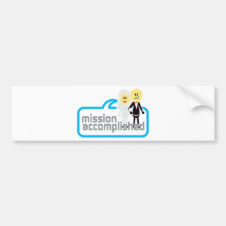 Mission Accomplished Marriage Bumper Stickers