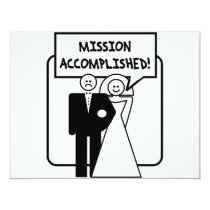 """""""Mission Accomplished"""" Marriage Card"""