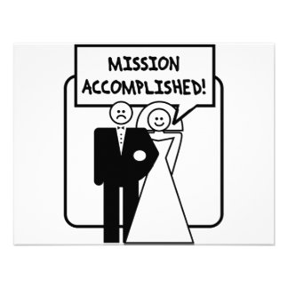 """Mission Accomplished"" Marriage Custom Invite"