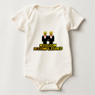 """""""Mission Accomplished"""" Marriage (Gay, 8-bit) Baby Bodysuit"""