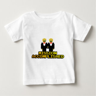 """""""Mission Accomplished"""" Marriage (Gay, 8-bit) Baby T-Shirt"""