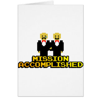 """Mission Accomplished"" Marriage (Gay, 8-bit) Card"