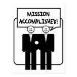 """""""Mission Accomplished"""" Marriage (homosexual) Post Cards"""