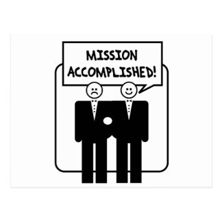 """Mission Accomplished"" Marriage (homosexual) Postcard"