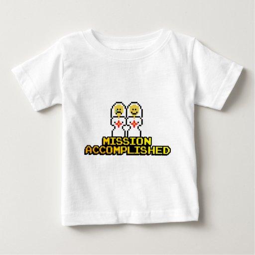 """Mission Accomplished"" Marriage (Lesbian, 8-bit) Baby T-Shirt"