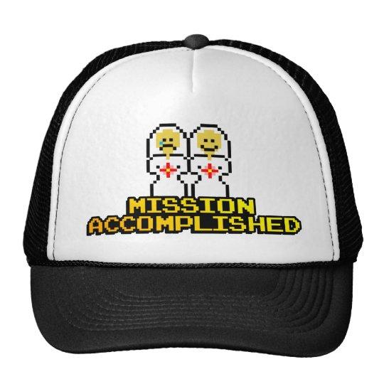 """Mission Accomplished"" Marriage (Lesbian, 8-bit) Trucker Hat"