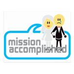 Mission Accomplished Marriage Postcards