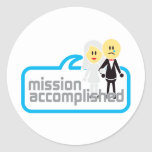 Mission Accomplished Marriage Sticker