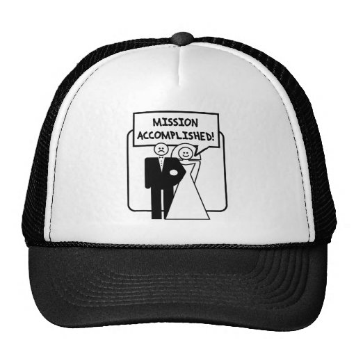 """Mission Accomplished"" Marriage Trucker Hat"