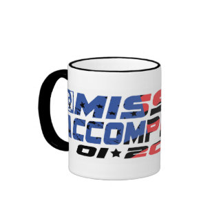 Mission Accomplished Obama Gear Ringer Mug