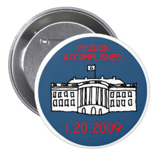 mission accomplished pinback button
