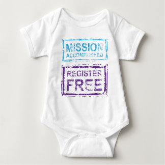 Mission Accomplished Register Free Stamp Baby Bodysuit