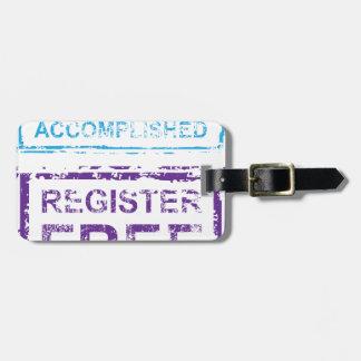 Mission Accomplished Register Free Stamp Bag Tag