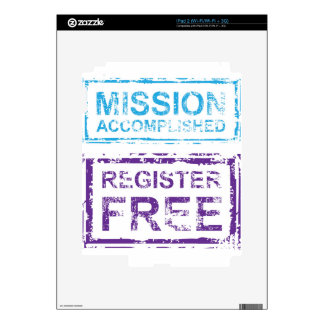 Mission Accomplished Register Free Stamp Decal For iPad 2
