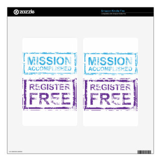 Mission Accomplished Register Free Stamp Kindle Fire Decal