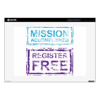 Mission Accomplished Register Free Stamp Skin For Laptop