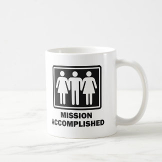 Mission Acomplished Threesome Coffee Mug