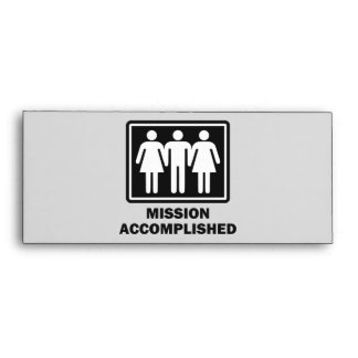 Mission Acomplished Threesome Envelope