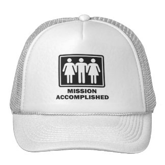 Mission Acomplished Threesome Trucker Hat