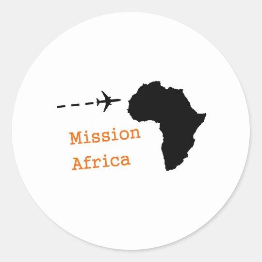 Mission Africa Classic Round Sticker