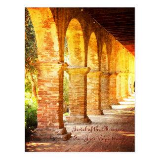 Mission Arches San Juan Capistrano Postcard