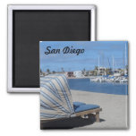 Mission Bay- San Diego 2 Inch Square Magnet