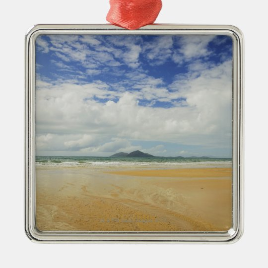 Mission Beach and Dunk Island Metal Ornament