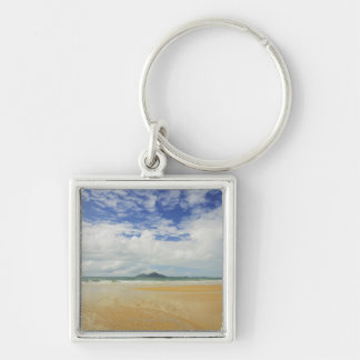 Mission Beach and Dunk Island Silver-Colored Square Keychain
