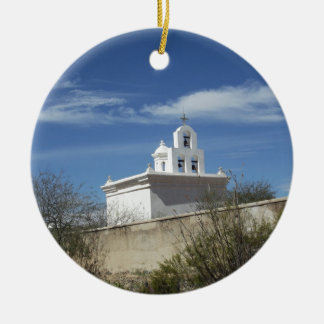 Mission Bell Tower Ceramic Ornament