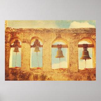 Mission Bells, San Juan Capistrano Poster