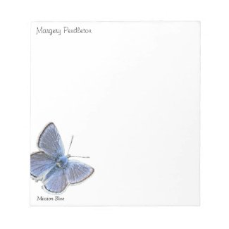 Mission Blue Butterfly notepads