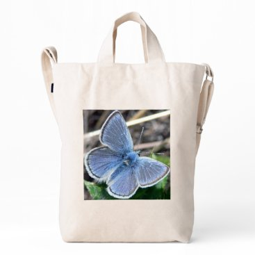 Beach Themed Mission Blue Tote Duck Bag