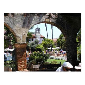 Mission Capistrano Church Arches Postcard