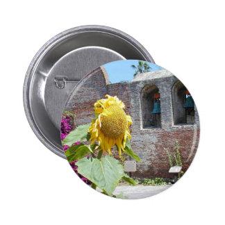 Mission Capistrano Church Bells Walls Sunflowers A Pin